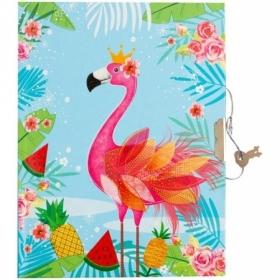 """Записная книжка 7БЦ B6 ArtSpace """"Flamingo"""" с замком, 64 листа"""