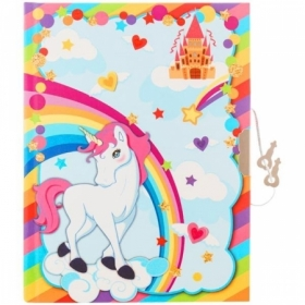 "Записная книжка 7БЦ B6 ArtSpace ""Unicorn"" с замком, 64 листа"