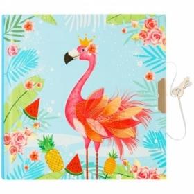 """Записная книжка 7БЦ А6 ArtSpace """"Flamingo"""" с замком, 60 листов"""