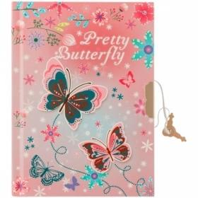 "Записная книжка 7БЦ А6 ArtSpace ""Butterfly"" с металлическим замком, 64 листа"