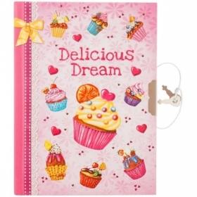 """Записная книжка 7БЦ А6 ArtSpace """"Cupcake"""" с металлическим замком, 64 листа"""