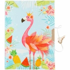 """Записная книжка 7БЦ А6 ArtSpace """"Flamingo"""" с металлическим замком, 64 листа"""
