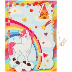 "Записная книжка 7БЦ А6 ArtSpace ""Unicorn"" с металлическим замком, 64 листа"