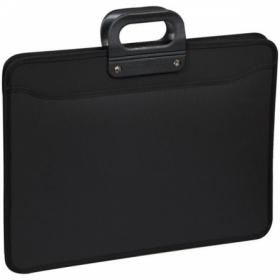 Папка-портфель 3 отделения OfficeSpace А3, на молнии, черная