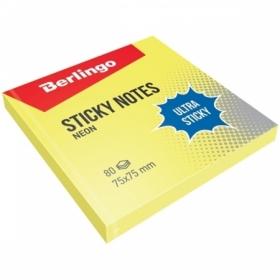 """Самоклеящийся блок Berlingo """"Ultra Sticky"""" 75х75 мм, 80 листов, в ассортименте"""