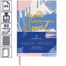 "Записная книжка А6 ЛАЙТ Greenwich Line ""Vision.Trendy"", 80 листов"