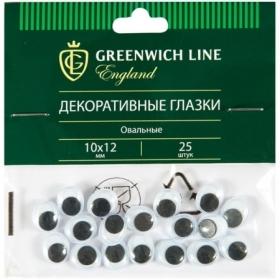 """Материал декоративный Greenwich Line """"Глазки"""" овальные, 10х12 мм, 25 шт."""
