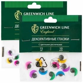 """Материал декоративный Greenwich Line """"Глазки"""" с цветными ресничками в ассортименте"""