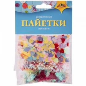 "Материал декоративный Апплика ""Пайетки"" ассорти, 3 вида"