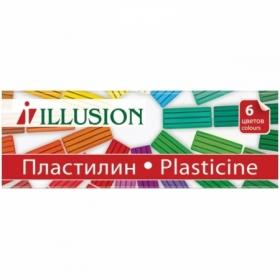 "Пластилин Гамма ""Illusion"", 6 цветов, 84 г"