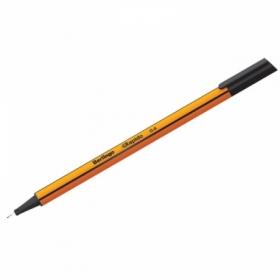 """Ручка капиллярная Berlingo """"Rapido"""" черная 0,4 мм трехгранная"""