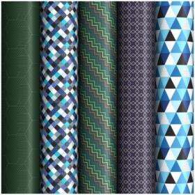 """Упаковочная бумага глянцевая ArtSpace """"Geometric"""" 70х100 см, 5 дизайнов"""
