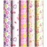 """Упаковочная бумага глянцевая ArtSpace """"Для девочек"""" 70х100 см, 5 дизайнов"""