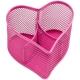 """Настольная подставка Berlingo """"Steel Style"""" металлическая в виде сердца, розовая"""