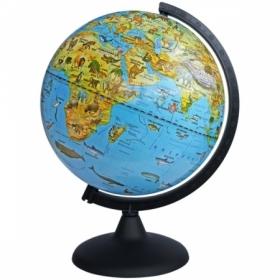 Глобус зоогеографический Глобусный мир, 25 см, на круглой подставке
