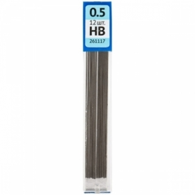 Грифели для механических карандашей OfficeSpace HB 0.5 мм, 12 шт