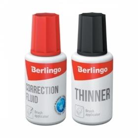 Корректирующая жидкость Berlingo + разбавитель, 2х20 мл