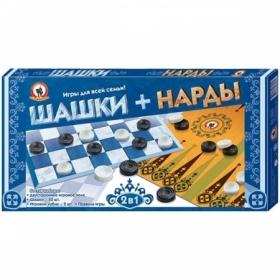 Набор игр 2 в 1 Русский стиль (нарды, шашки)