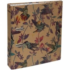 "Папка-регистратор Berlingo ""Hummingbird"" 70 мм, крафт-бумага с рисунком"