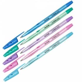 """Ручка шариковая Berlingo """"Tribase Pastel"""" синяя 0,7 мм"""
