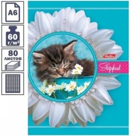 """Бизнес-блокнот А6 Hatber """"Котенок"""" с поролоном, 80 листов"""