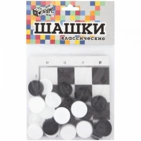 Игра настольная Шашки классические Русский стиль