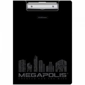 """Папка-планшет с зажимом Erich Krause """"Megapolis"""" А4 черная"""