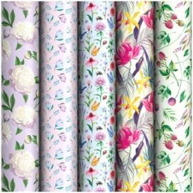 """Упаковочная бумага глянцевая ArtSpace """"Flowers"""" 70х100 см, 5 дизайнов"""