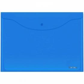 Папка-конверт на кнопке Berlingo А3, 180 мкм, синяя