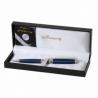 Ручка шариковая VENEZIA, синий матовый корпус, подарочный футляр из кожзама