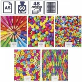 """Тетрадь А5 в клетку на скрепке ArtSpace """"Стиль. Яркое вдохновение"""", 48 листов"""
