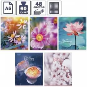 """Тетрадь А5 в клетку на скрепке ArtSpace """"Цветы. The blooming garden"""", 48 листов"""