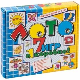 """Игра настольная Лото Десятое королевство """"7 игр в 1 коробке"""" (большое)"""