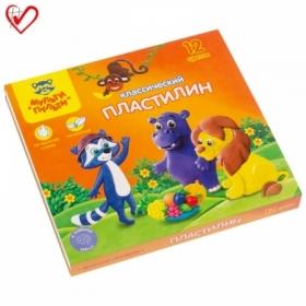 "Пластилин Мульти-Пульти ""Приключения Енота"" 12 цветов, 240 г"