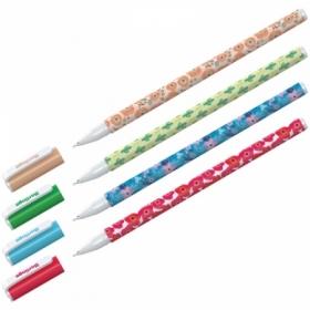 """Ручка шариковая Berlingo """"Funline. Flowers"""" синяя 0.7 мм"""