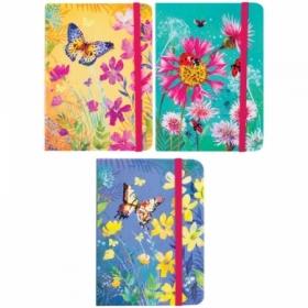 """Записная книжка 7БЦ формата A6 ArtSpace """"Summer flowers"""" на резинке, 80 листов"""