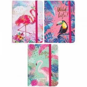 """Записная книжка 7БЦ формата A6 ArtSpace """"Tropical bird"""" на резинке, 80 листов"""