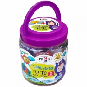 "Тесто для лепки Гамма ""Малыш"" 8 цветов 25 г"
