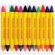 """Мелки восковые двусторонние Мульти-Пульти """"Приключения Енота"""" 24 цвета, 12 шт., трехгранные"""