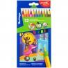 """Набор цветных карандашей Berlingo """"Цирк"""" 12 цветов, пластиковые заточенные"""