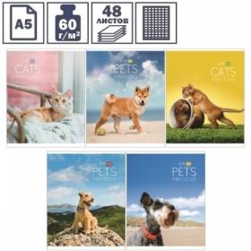 """Тетрадь А5 в клетку на скрепке ArtSpace """"Животные. My pets"""", 48 листов"""