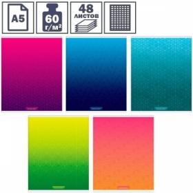 """Тетрадь А5 в клетку на скрепке ArtSpace """"Моноколор. Bright modern"""", 48 листов"""