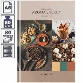 "Бизнес-блокнот А5 OfficeSpace ""Кофе. Aroma energy"", 80 листов"