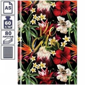 "Бизнес-блокнот А5 OfficeSpace ""Цветы. Beautiful romance"", 80 листов"
