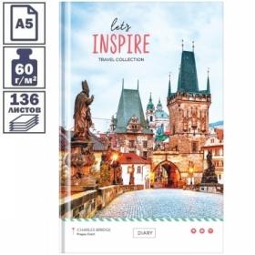 """Ежедневник недатированный A5 7БЦ OfficeSpace """"Путешествия. Let's inspire"""", 136 листов"""