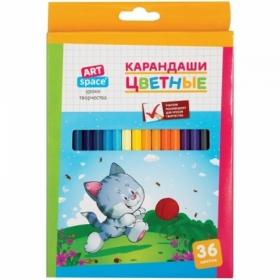"""Карандаши цветные ArtSpace """"Зверята"""" 36 цветов"""