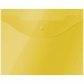 Папка-конверт на кнопке А5 OfficeSpace 150 мкм, полупрозрачная, в ассортименте