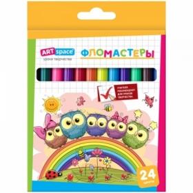 """Фломастеры ArtSpace """"Совята"""" 24 цвета, смываемые"""