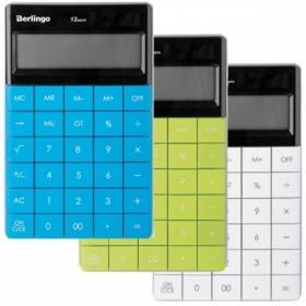 """Калькулятор настольный Berlingo """"Power TX"""", 12 разрядов, в ассортименте"""
