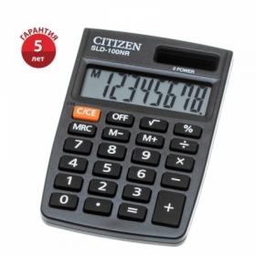 Калькулятор карманный Citizen SLD-100NR, 8 разрядов, черный
